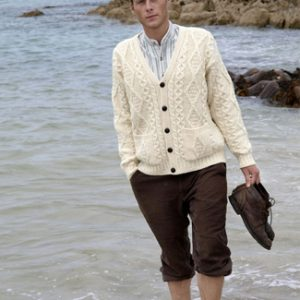 Mens V-Neck Cardigan