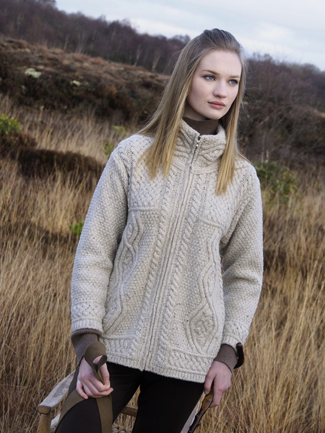 Zip Cardigan with Cashmere