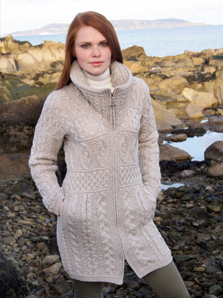 Merino Wool Long Zip Coat